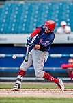 22 July 2018: Louisville Bats outfielder Mason Williams at bat against the Syracuse SkyChiefs at NBT Bank Stadium in Syracuse, NY. The Bats defeated the Chiefs 3-1 in AAA International League play. Mandatory Credit: Ed Wolfstein Photo *** RAW (NEF) Image File Available ***
