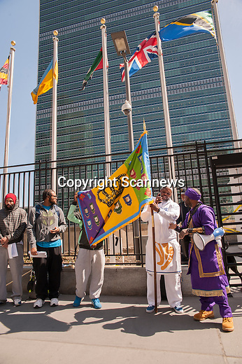 Demonstration front of United Nations