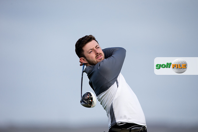 Liam Grehan (Maynooth) during round 1 of the Irish Intervarsity Championship, Lahinch Golf Club, Clare, Ireland.  19/10/2016<br /> Picture: Golffile | Fran Caffrey<br /> <br /> <br /> All photo usage must carry mandatory copyright credit (&copy; Golffile | Fran Caffrey)