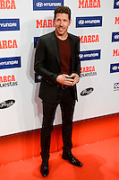 Atletico de Madrid's coach Diego Pablo Simeone attends to the photocell of the Marca Awards 2015-2016 at Florida Park in Madrid. November 07, 2016. (ALTERPHOTOS/Borja B.Hojas) ///NORTEPHOTO.COM