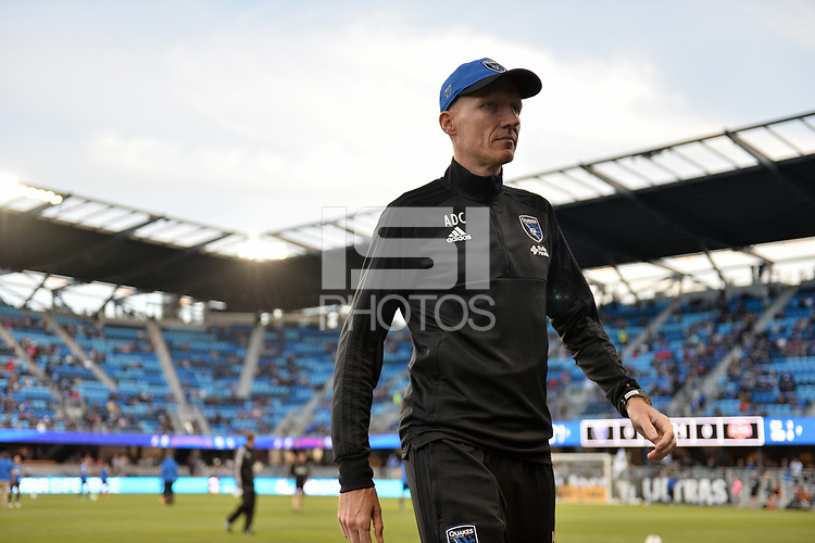 San Jose, CA - Saturday April 14, 2018: Alex de Crook prior to a Major League Soccer (MLS) match between the San Jose Earthquakes and the Houston Dynamo at Avaya Stadium.