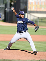 Nestor Corredor / Helena Brewers in action against the Ogden Raptors in a Pioneer League game in Ogden, UT - 08/10/2008..Photo by:  Bill Mitchell/Four Seam Images