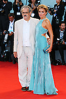 Giuseppe Gaudino and Valeria Golino attend the red carpet for the premiere of the movie 'Per Amor Vostro' during the 72nd Venice Film Festival at the Palazzo Del Cinema in Venice, Italy, September 11, 2015.<br /> UPDATE IMAGES PRESS/Stephen Richie