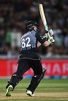 New Zealand batsman Colin Munro.<br /> New Zealand Black Caps v England.Tri-Series International Twenty20 cricket. Eden Park, Auckland, New Zealand. Sunday 18 February 2018. &copy; Copyright Photo: Andrew Cornaga / www.Photosport.nz