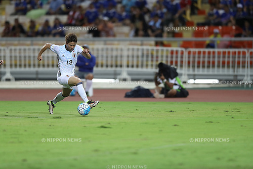 Takuma Asano (JPN),<br /> SEPTEMBER 6, 2016 - Football / Soccer :<br /> FIFA World Cup Russia 2018 Asian Qualifiers Final Round Group B match between Thailand 0-2 Japan at Rajamangala National Stadium in Bangkok, Japan. (Photo by Kenzaburo Matsuoka/AFLO)