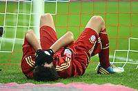FUSSBALL   1. BUNDESLIGA  SAISON 2012/2013   17. Spieltag FC Bayern Muenchen - Borussia Moenchengladbach    14.12.2012 Javi , Javier Martinez (FC Bayern Muenchen) muss verletzt ausgewechselt werden