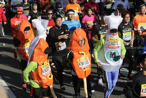 A runner, .NOVEMBER 25, 2012 - Athletics : .Osaka Marathon 2012 in Osaka, Japan. .(Photo by Akihiro Sugimoto/AFLO SPORT) [1080]