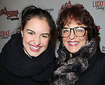 Gabriella Fanuele & Priscilla Lopez sporting a pair of signature 'Ralphie' specs at the Broadway Opening Night Performance for 'A Christmas Story - The Musical'  at the Lunt Fontanne Theatre in New York City on 11/19/2012.