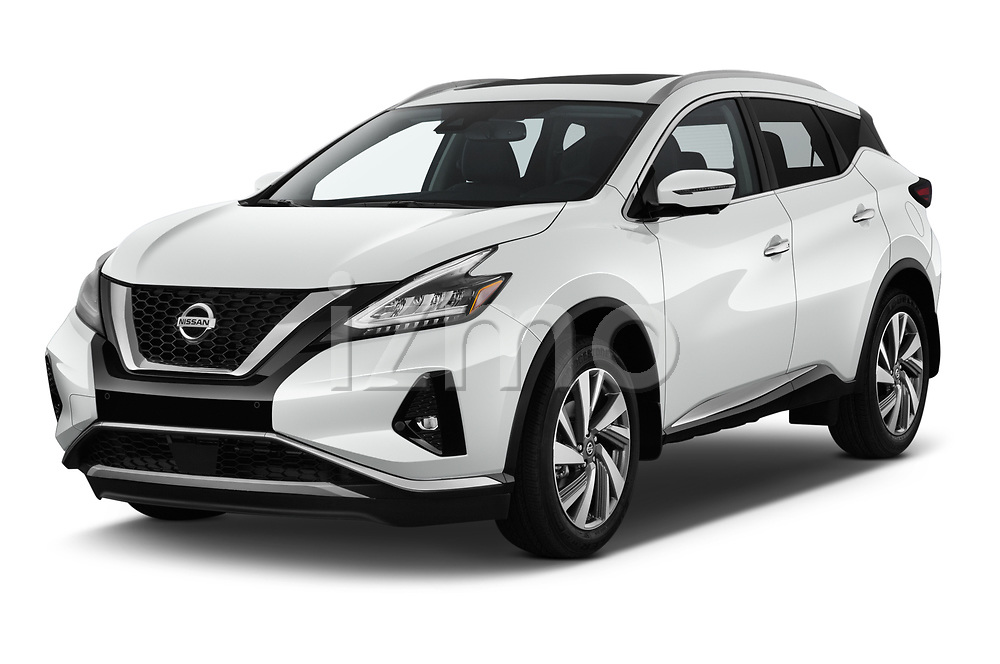 2019 Nissan Murano SL 5 Door SUV Angular Front stock photos of front three quarter view
