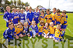 At the Cromane Family & Friends Fun Day on Sunday were the U8 football teams from Renard in Blue and Beaufort in Yellow, pictured front l-r; Jack Kelly, Darragh Crehan, Sean Teehan, Robert Wharton, Mark O'Sullivan-Rousse, Caolan Ireland, Simon Coffey, Conor Lehane, back l-r; Michael Keating, Vicky McCarthy, Brendan Kelly, Nigel McDaid, Liam Sugrue, Donagh Quinlan, Mark O'Leary, Robert Sweeney, Timmy Casey, Stefan Caulfield, Patrick Galvin, Dillon Ferris.