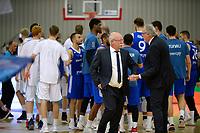 LEEK - Basketbal, Donar - Istanbul BBSK, Europe Cup, seizoen 2018-2019, 17-10-2018,  meindert van der Veen blij na afloop