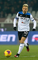 25th January 2020; Olympic Grande Torino Stadium, Turin, Piedmont, Italy; Serie A Football, Torino versus Atalanta; Alejandro Gomez of Atalanta on the ball