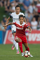 Boyds, MD. - Saturday, June 24 2017:  Nadia Nadim, Caprice Dydasco during a regular season National Women's Soccer League (NWSL) match between the Washington Spirit and the Portland Thorns FC at Maureen Hendricks Field, Maryland SoccerPlex. The Washington Spirit defeated Portland Thorns FC 1-0.