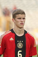 Germany's Sven Bender (6) stands on the field before the match against Brazil during the FIFA Under 20 World Cup Quarter-final match at the Cairo International Stadium in Cairo, Egypt, on October 10, 2009. Germany lost 2-1 in overtime play.