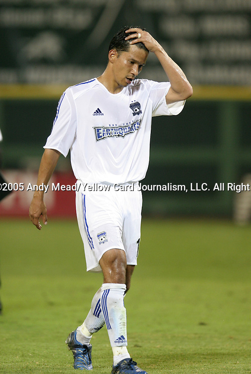 15 July 2005: Mark Chung walks off the field after the loss. DC United defeated the San Jose Earthquakes 3-0 at RFK Stadium in Washington, DC in a regular season Major League Soccer game.