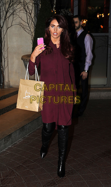 LONDON, ENGLAND - DECEMBER 01: Amy Childs spotted on December 1st, 2015 in London, England.<br /> CAP/AOU<br /> &copy;AOU/Capital Pictures