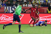 Carson, CA - Sunday January 28, 2018: Gyasi Zardes during an international friendly between the men's national teams of the United States (USA) and Bosnia and Herzegovina (BIH) at the StubHub Center.