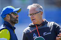 NZ Cricket Black Caps selector Gavin Larsen talks to Otago head coach Rob Walter during day two of the Plunket Shield cricket match between the Wellington Firebirds and Otago Volts at the Basin Reserve in Wellington, New Zealand on Tuesday, 22 October 2019. Photo: Dave Lintott / lintottphoto.co.nz