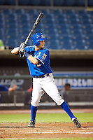 Brantley Bell #2 of Mountain Pointe High School in Phoenix, Arizona  playing for the Kansas City Royals scout team during the East Coast Pro Showcase at Alliance Bank Stadium on August 1, 2012 in Syracuse, New York.  (Mike Janes/Four Seam Images)