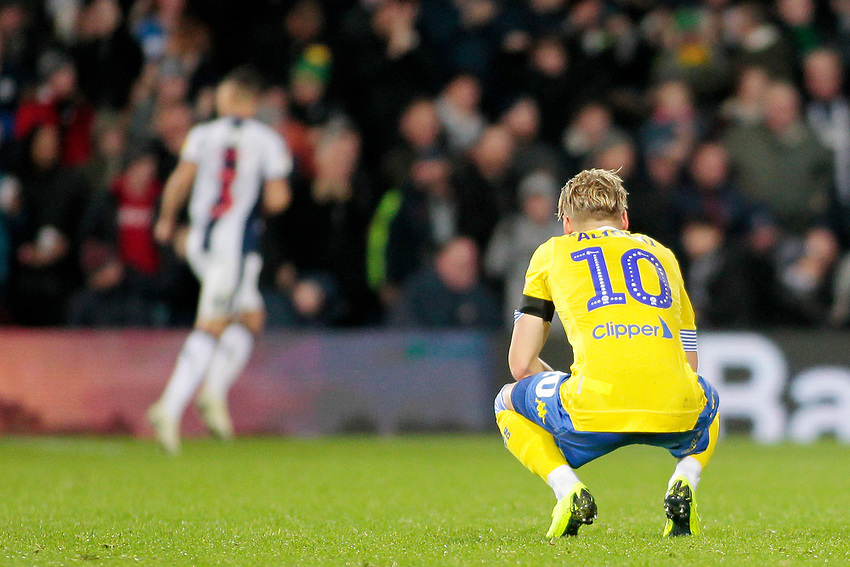 Leeds United's Ezgjan Alioski looks on as West Bromwich Albion celebrate going 2-0 ahead<br /> <br /> Photographer David Shipman/CameraSport<br /> <br /> The EFL Sky Bet Championship - West Bromwich Albion v Leeds United - Saturday 10th November 2018 - The Hawthorns - West Bromwich<br /> <br /> World Copyright © 2018 CameraSport. All rights reserved. 43 Linden Ave. Countesthorpe. Leicester. England. LE8 5PG - Tel: +44 (0) 116 277 4147 - admin@camerasport.com - www.camerasport.com