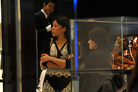 Customers in the Chanel flag-ship store in the upmarket Ginza area of Central Tokyo, 17th September, 2008.<br />