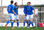 East Fife v St Johnstone...09.07.14  Pre-Season Friendly<br /> Stevie May celebrates his goal, saints second with Scott Brown<br /> Picture by Graeme Hart.<br /> Copyright Perthshire Picture Agency<br /> Tel: 01738 623350  Mobile: 07990 594431