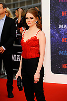 LONDON, ENGLAND - SEPTEMBER 13:  Emma Stone attending the World premiere of the new Netflix series 'Maniac' at Southbank Centre on September 13, 2018 in London, England.<br /> CAP/MAR<br /> &copy;MAR/Capital Pictures