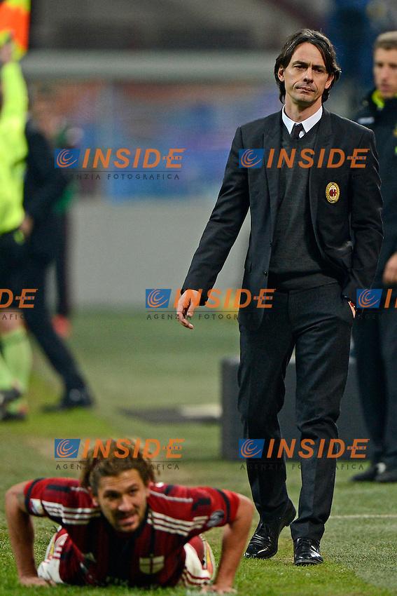 Filippo Inzaghi, Alessio Cerci Milan<br /> Milano 27-01-2015 Stadio Giuseppe Meazza - Football Calcio Coppa Italia Milan - Lazio. Foto Giuseppe Celeste / Insidefoto