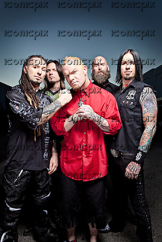 Five Finger Death Punch - exclusive photosession in Las Vegas, NV, USA - October 9 2011. Photo credit: Ashley Maile/IconicPix  **PREMIUM COLLECTION**HIGHER RATES APPLY* *NO WEBSITES* *NO SUBSCRIPTIONS*