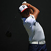 Rickie Fowler hits off the tee on the 4th Hole during the first round of the U.S. Open Championship at Shinnecock Hills Golf Club in Southampton on Thursday, June 14, 2018.