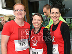 Edel Smith, Theresa Eccles and Nicola Wong who took part in the SOSAD 5K run. Photo:Colin Bell/pressphotos.ie