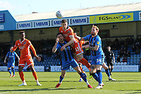 James Bolton of Shrewsbury Town heads the ball towards the Gillingham goal during Gillingham vs Shrewsbury Town, Sky Bet EFL League 1 Football at The Medway Priestfield Stadium on 13th April 2019