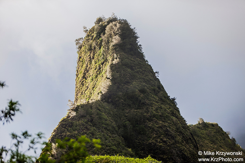Close up of Iao Needle, Iao Valley State Park, Wailuku, Maui