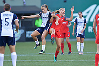 Portland, OR - Saturday July 22, 2017: Meggie Dougherty Howard, Allie Long during a regular season National Women's Soccer League (NWSL) match between the Portland Thorns FC and the Washington Spirit at Providence Park.