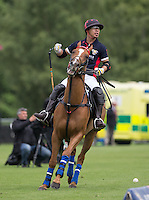 during the Cartier Trophy Final match between King Power and Salkeld at the Guards Polo Club, Windsor, Smith's Lawn, England on 14 June 2015. Photo by Andy Rowland.