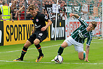 11.08.2019, Stadion Lohmühle, Luebeck, GER, DFB-Pokal, 1. Runde VFB Lübeck vs 1.FC St. Pauli<br /> <br /> DFB REGULATIONS PROHIBIT ANY USE OF PHOTOGRAPHS AS IMAGE SEQUENCES AND/OR QUASI-VIDEO.<br /> <br /> im Bild / picture shows<br /> Christopher Buchtmann (FC St. Pauli) im Zweikampf gegen Florian Riedel (VfB Luebeck)<br /> <br /> Foto © nordphoto / Tauchnitz