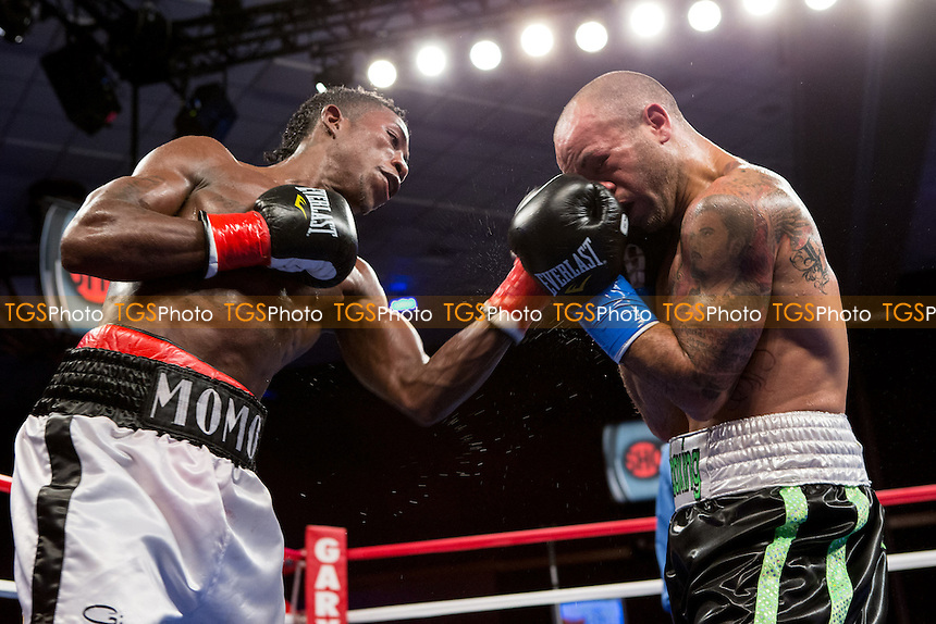 Jhonatan Romero vs Efrain Esquivias in a Super Bantamweight boxing contest - ShoBox The New Generation at the Chumash Casino Resort in Santa Ynez, California - 21/09/12 - Dwight McCann/TGSPHOTO - Self billing applies where appropriate - 0845 094 6026 - contact@tgsphoto.co.uk - NO UNPAID USE.