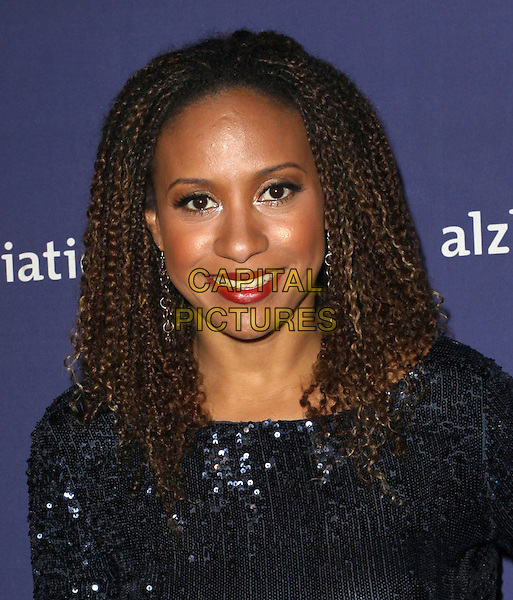 "TRACIE THOMS.18Th Annual ""A Night at Sardi's"" Benefitting The Alzheimer's Association held At The Beverly Hilton Hotel, Beverly Hills, California, USA..March 18th, 2010.headshot portrait  sequins sequined black blue  red lipstick.CAP/ADM/KB.©Kevan Brooks/AdMedia/Capital Pictures."