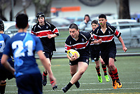 Action from the 2018 Hurricanes Secondary Schools Under-15 Boys' Rugby Tournament match between Aotea College and Scots College at Maidstone Park in Wellington, New Zealand on Wednesday, 5 September 2018. Photo: Dave Lintott / lintottphoto.co.nz
