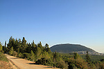 Israel, Lower Galilee, Beth Keshet scenic road, Mount Tabor is in the background