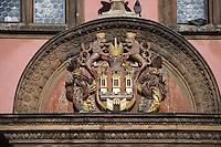 Europe/République Tchèque/Prague: Détail de l'Hôtel de Ville: Armoiries de la Vieille Ville