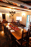 USA; New Mexico; Taos; The breakfast room at the Mabel Dodge Luhan House