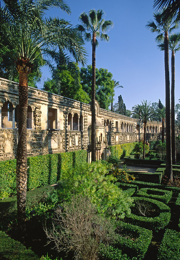 GARDEN OF THE LADIES in the ALCAZAR was completed in preperation for a visit by PHILIP 1V - SEVILLA.
