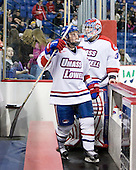Chris Ickert (Lowell - 2), Doug Carr (Lowell - 31) - The visiting Northeastern University Huskies defeated the University of Massachusetts-Lowell River Hawks 3-2 with 14 seconds remaining in overtime on Friday, February 11, 2011, at Tsongas Arena in Lowelll, Massachusetts.