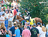 Dunkin'  With Dale before The Kent Stakes (gr 3) at Delaware Park on 7/18/15