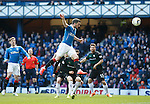 Nicky Clark heads in to score for Rangers