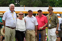 Declan Kelly ( Irish Ambassador) and Ron Anderson with Damien McGrane (IRL) and friends during Round 3 of the Maybank Malaysian Open at the Kuala Lumpur Golf & Country Club on Saturday 7th February 2015.<br />