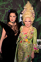NEW YORK, NY - OCTOBER 30: Dita Von Teese (L) and Bette Midler attend  Bette Midler's Annual Hulaween Event Benefiting The New York Restoration Project, at the Cathedral of St. John the Divine on Monday, October 30, 2017  in New York. Credit: Raymond Hagans/MediaPunch /NortePhoto.com