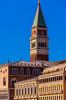 San Marco Campanile (bell tower), Venice, Italy.