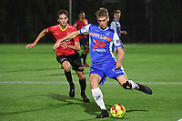 FC MANDEL UNITED IZEGEM - KSV OUDENAARDE :<br /> Jasper Beyens (L) probeert tevergeefs Jelle Belmans (R) in te halen <br /> <br /> Foto VDB / Bart Vandenbroucke